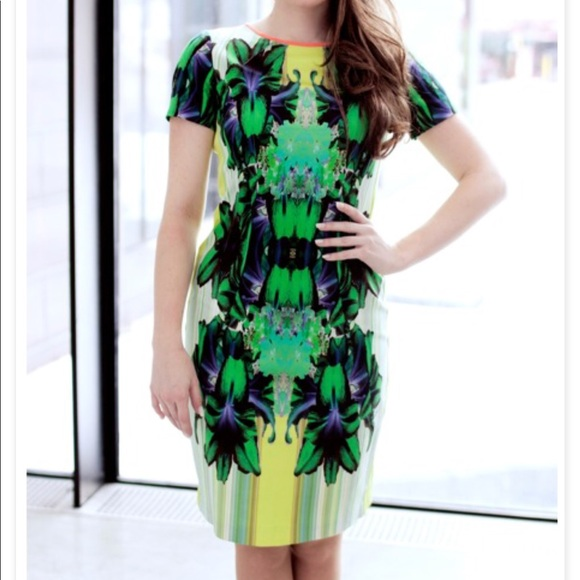 092c50d9014e Elie Tahari Dresses & Skirts - ELIE TAHARI Angie Printed Sheath Dress Neon  Floral